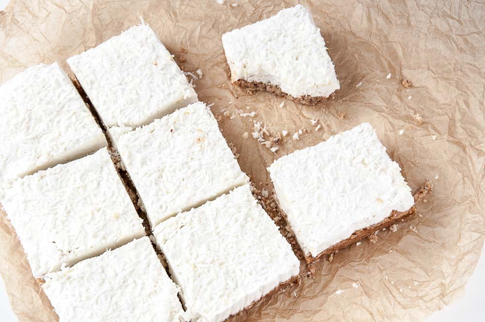Lemon Coconut Cream Bars Recipe - Vegan Family Recipes