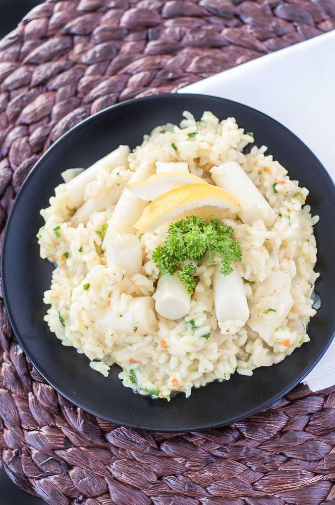 White Asparagus Risotto Recipe - Vegan Family Recipes