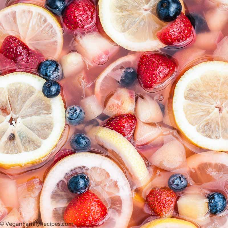 White Peach Sangria White Wine Recipe - Vegan Family Recipes