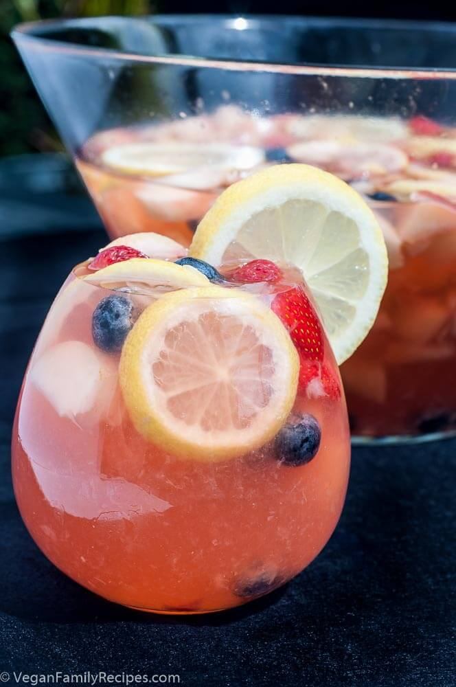 White Peach Wine Sangria Recipe Brandy - Vegan Family Recipes