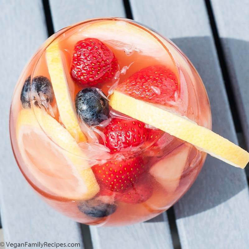 White Peach Sangria Recipe - Vegan Family Recipes