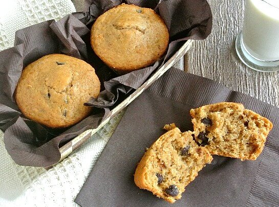 Espresso Chocolate Chip Muffin Recipe - Vegan Coffee Dessert