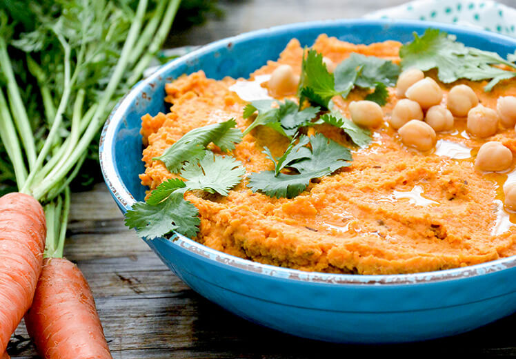 Roasted Carrot Hummus Recipe - Best Hummus Recipes