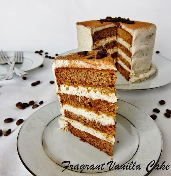 Vegan Tiramisu Cake - Vegan Coffee Desserts