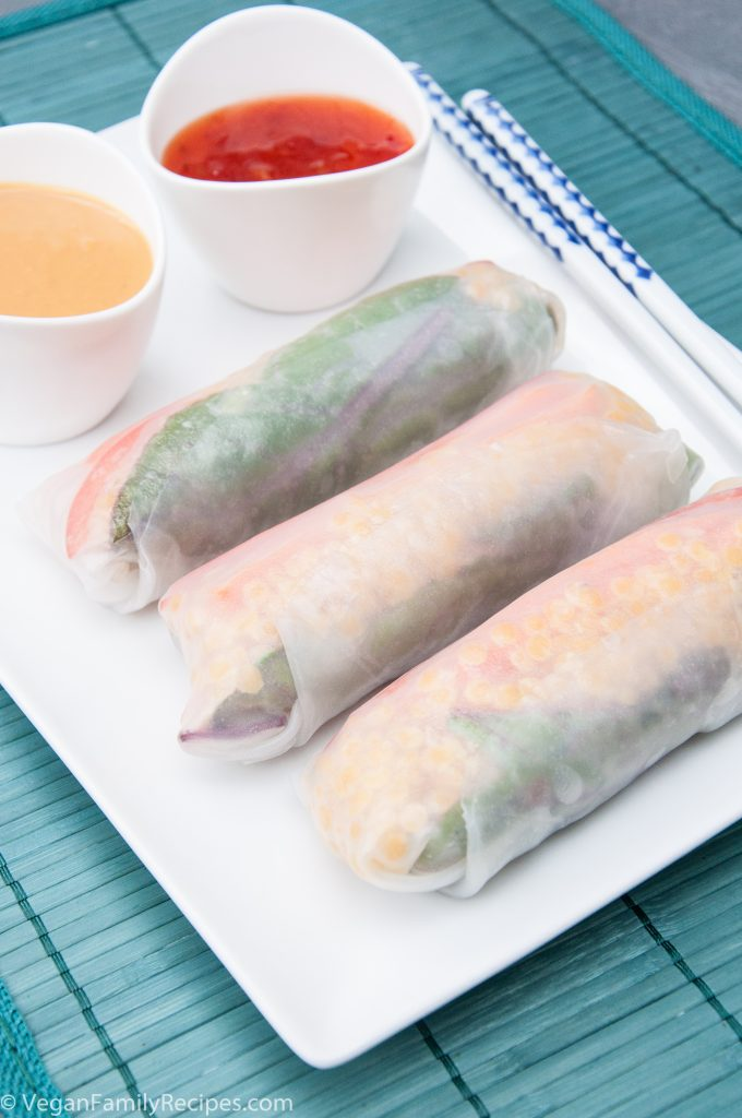 Red Lentil Sommer Rolls Recipe - Vegan Family Recipes #vegan #glutenfree