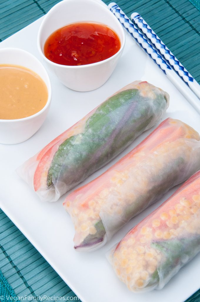 how to roll spring rolls - vegan family recipes