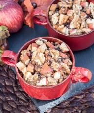 Healthy Apple Cinnamon Walnut Quinoa Breakfast Bowl Recipe - Vegan Family Recipes