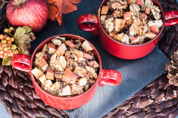Apple Walnut Quinoa Breakfast Bowl Recipe - Vegan Family Recipes