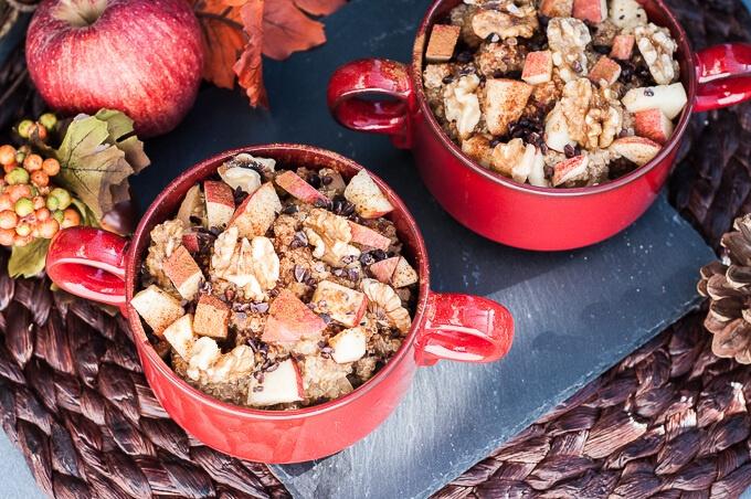Apple Walnut Quinoa Breakfast Bowl Recipe - Vegan Family Recipes