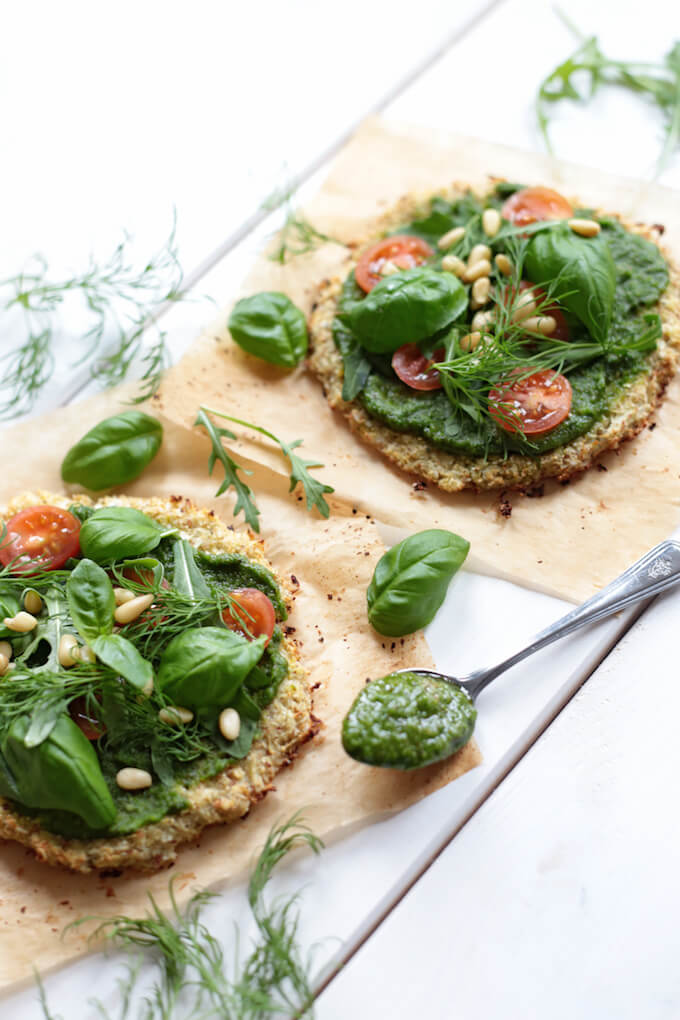 Mini Cauliflower Pizza - Best Vegan Pizza Recipes