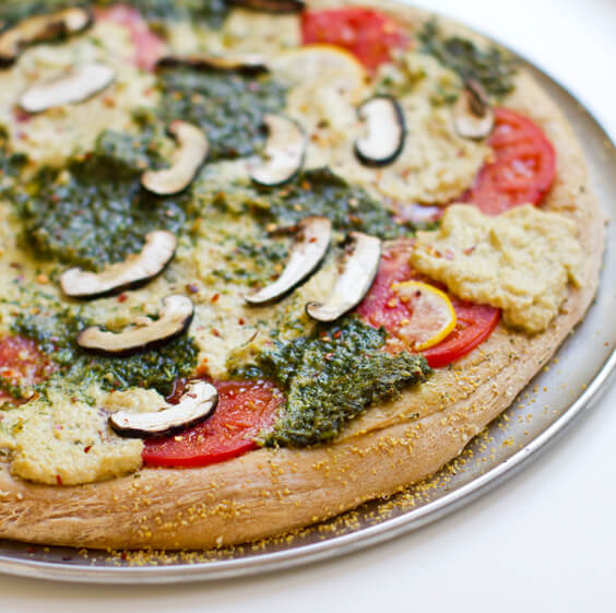 Pesto Cashew Ricotta Pizza - Best Vegan Pizza Recipes