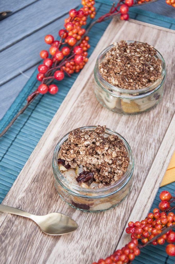 Cranberry Pear Crisp Recipe Vegan Gluten free - Vegan Family Recipes