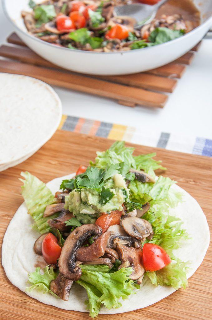 Vegan Mushroom tacos recipe healthy gluten-free taco sauce - vegan family recipes