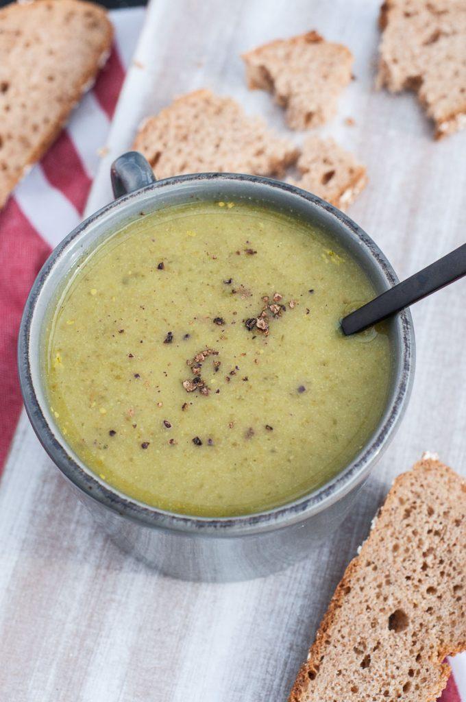 Cauliflower Kale Soup Healthy Recipe - Vegan Family Recipes