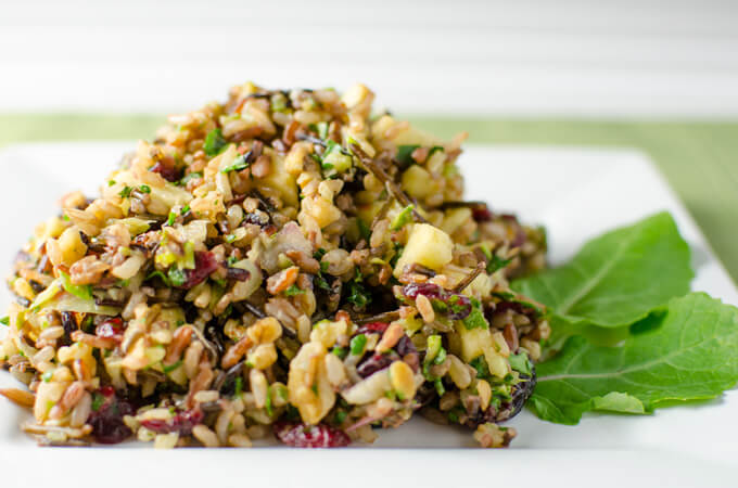 Cranberry Walnut Wild Rice Recipe - Thanksgiving Round-up