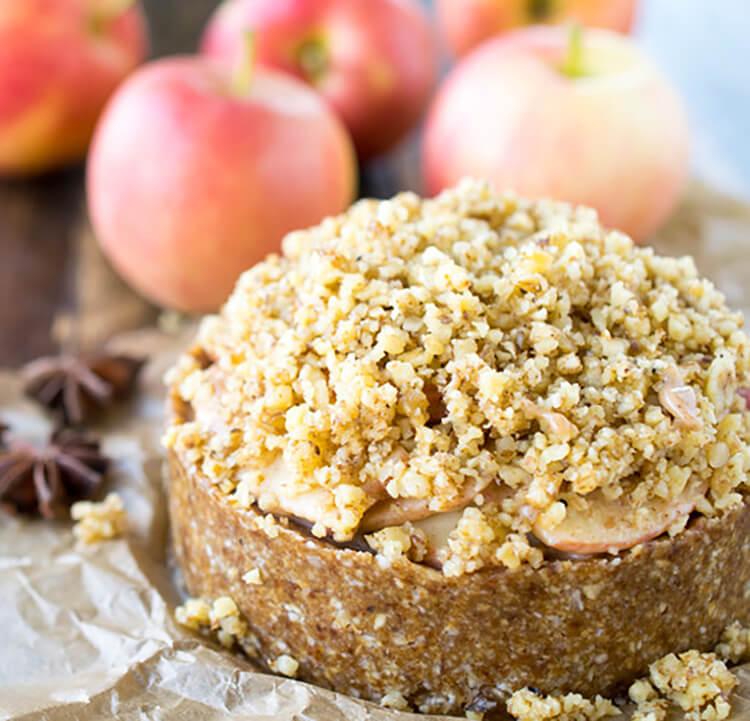 Deep Dish Apple Torte Recipe - Vegan Thanksgiving Recipes Dinner Desserts