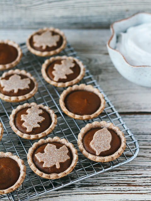 Mini Pumpkin Pies Recipe - Vegan Thanksgiving Recipes Dinner Desserts