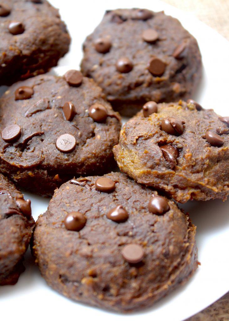 Pumpkin Chocolate Chip Chickpea Cookie Recipe - Vegan Thanksgiving Recipes Feast