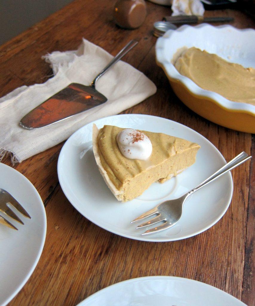 Pumpkin Cream Pie Recipe - Vegan Thanksgiving Recipes Feast