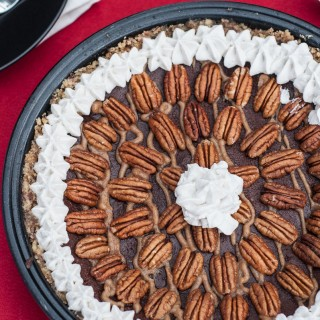 Chocolate Caramel Pecan Pie (V,GF,P)