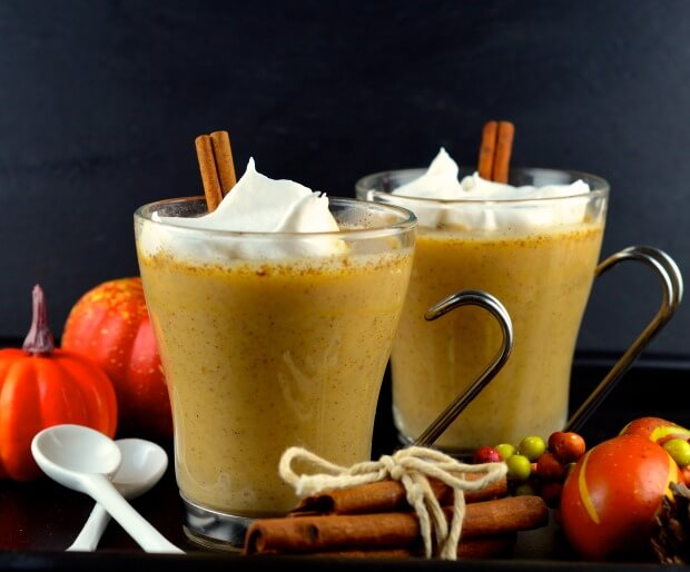 Warm Pumpkin Spice Cocktail Recipe - Vegan Thanksgiving Recipes Drink