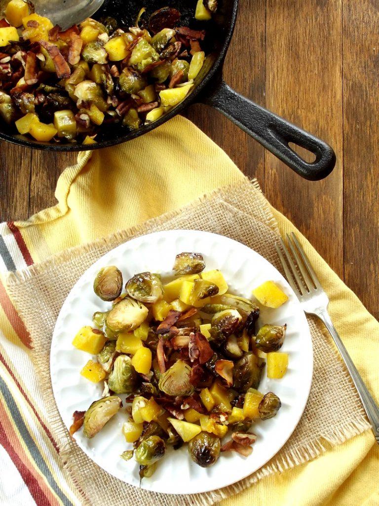Maple Butternut Brussels Sprouts Recipe - Vegan Thanksgiving Recipes Feast
