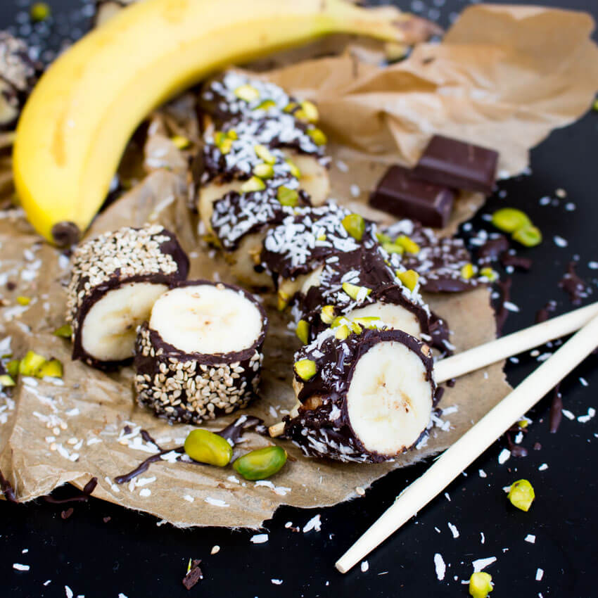 Banana Sushi Recipe - Holiday Chocolate Round-Up