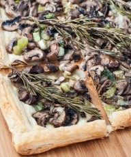 Rosemary Mushroom Tart Recipe Puff Pastry - Vegan Family Recipes