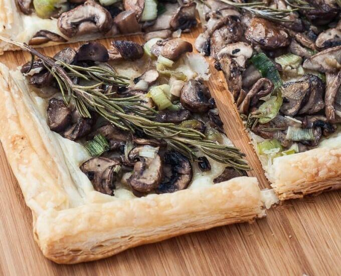 Rosemary Mushroom Tart - Vegan Family Recipes