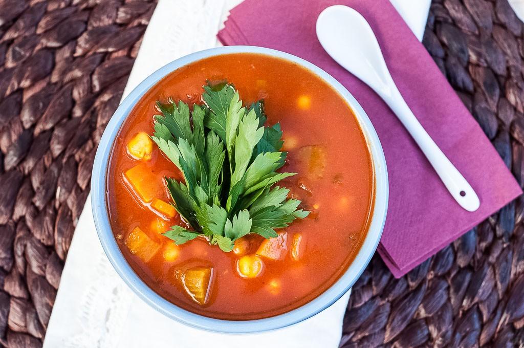 Moroccan Harira Soup Recipe - Vegan Family Recipes #healthy #glutenfree #dinner