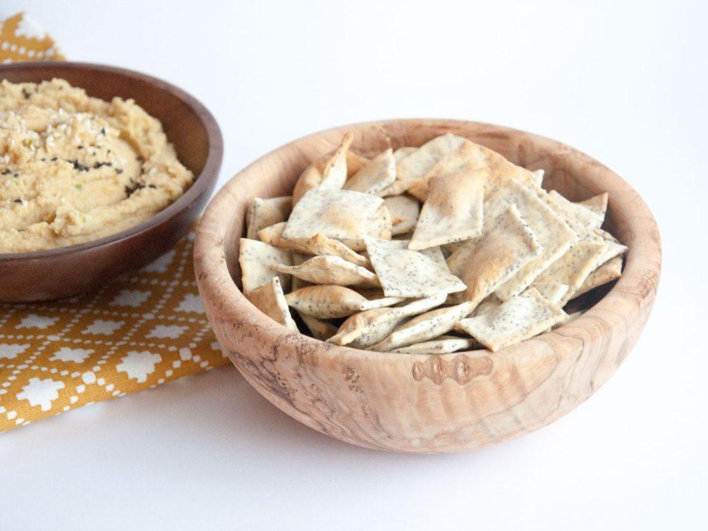 Poppyseed Cracker Recipe - Healthy Vegan Snacks for Kids Recipes #health #school #glutenfree