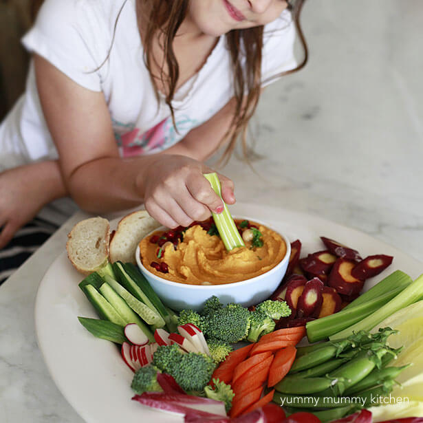 Sweet Potato Hummus Recipe - Vegan Snacks for Kids