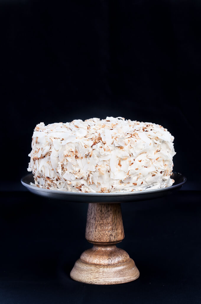 Vegan Coconut Chocolate Cake Recipe - VeganFamilyReipes.com #dairyfree #coconut oil