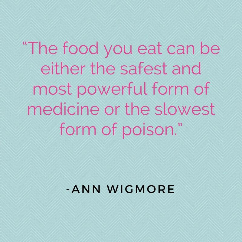 Vegan Quote, Healthy Living, Healthy food quote - VeganFamilyRecipes.com - Ann Wigmore
