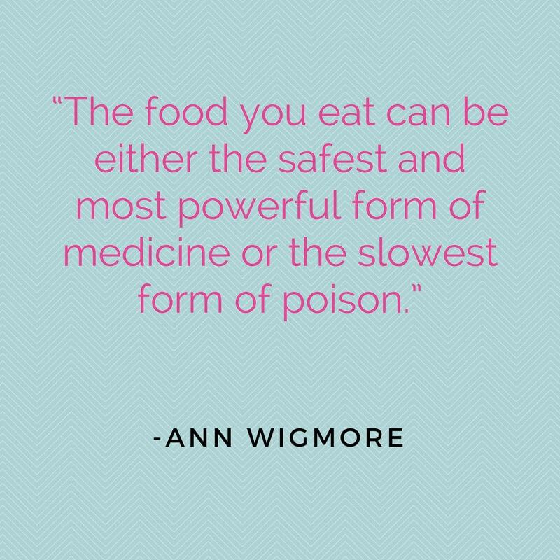 Vegan Quote, Healthy Living, Healthy food quote - VeganFamilyRecipes.com - Ann Wigmore